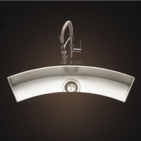 Trough Bar Sink : Kitchen-Sinks - 33 W Undermount Curved Trough Bar/Prep Sink ...