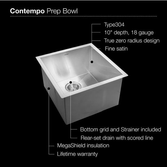 Kitchen Sinks Stainless Steel Zero Radius Contempo