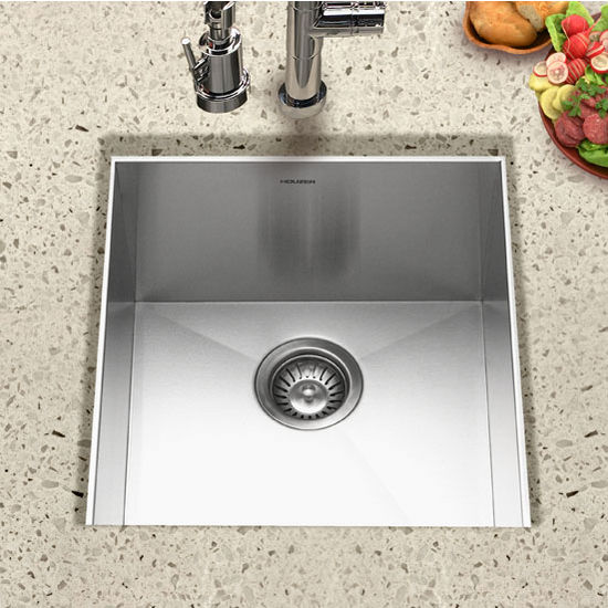 Houzer Contempo Zero Radius Stainless Steel Prep Sink By Houzer Amazing Design