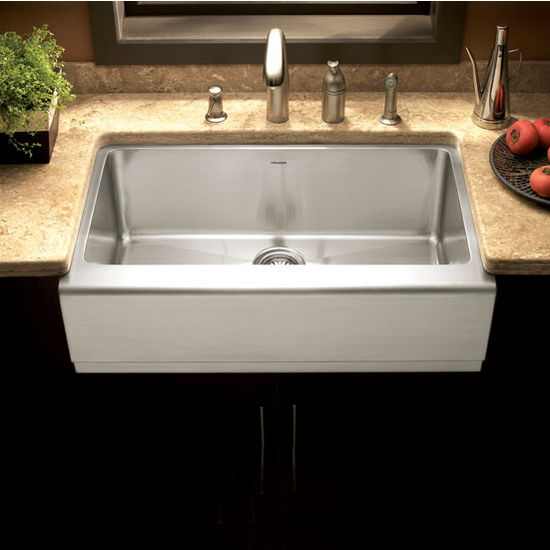 Houzer Epicure Gourmet Single Bowl Farmhouse Sink