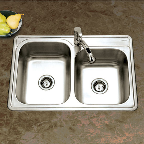 60/40 Topmount Double Bowl Sink