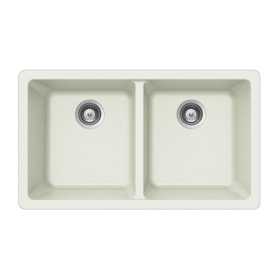 Ex M 200u Quartztone Granite Undermount 50 50 Double Bowl