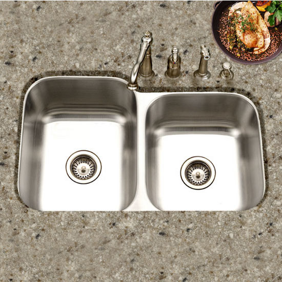 Medium image of houzer medallion classic series 60 40 undermount double bowl sink