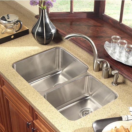 Kitchen Sinks - Medallion Gourmet Series 60/40 Undermount Double ...