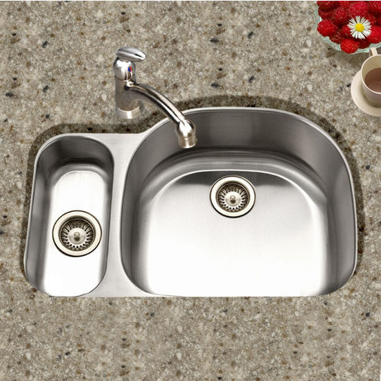 Houzer Medallion Designer Series Undermount Double Bowl Sink