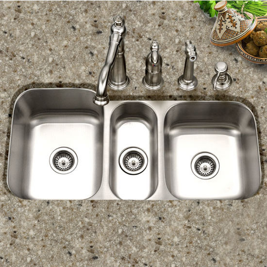 Triple Bowl Kitchen Sinks Medallion gourmet series undermount triple bowl kitchen sink by houzer medallion gourmet series undermount triple bowl sink workwithnaturefo