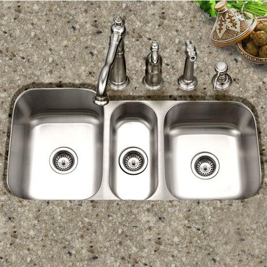 Medallion Gourmet Series Undermount Triple Bowl kitchen Sink by ...