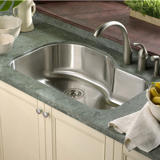 Houzer Medallion Designer Series Offset Single Bowl sink