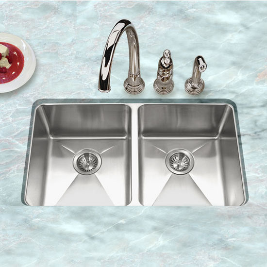 Houzer - Undermount 50/50 Double Bowl Kitchen Sink