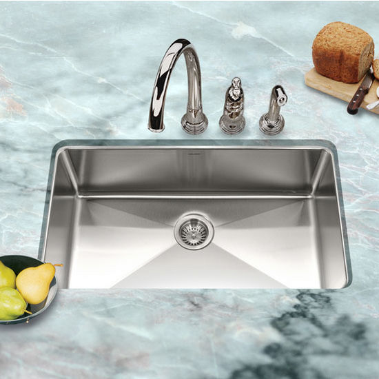 Houzer - Undermount Gourmet Single Bowl Kitchen Sink