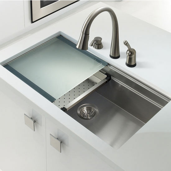 Elegant Houzer Novus Series Undermount Single Bowl Kitchen Sink Pictures Gallery