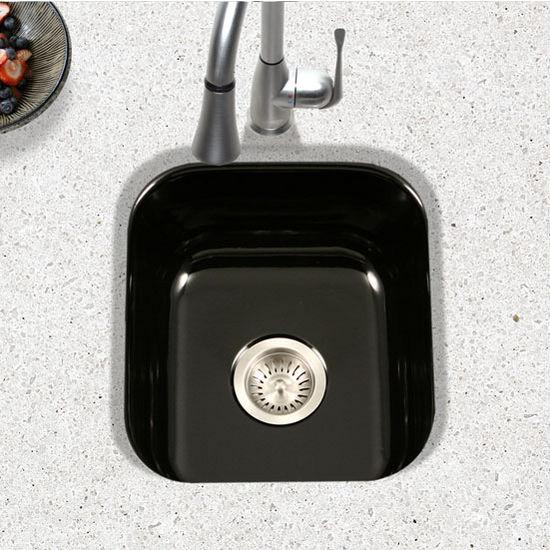 collection porcelain enamel steel undermount square bar kitchen sink