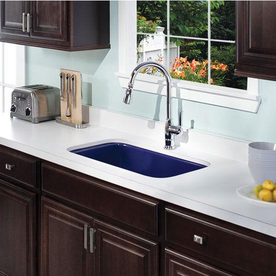 enamel steel gourmet undermount single bowl kitchen sink 30 7 8 39 39