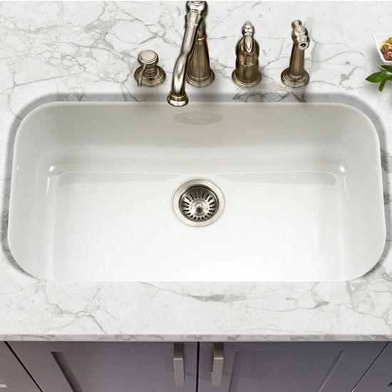 Ex Pcg 3600 Porcela Collection Porcelain Enamel Steel Gourmet Undermount Single Bowl Kitchen