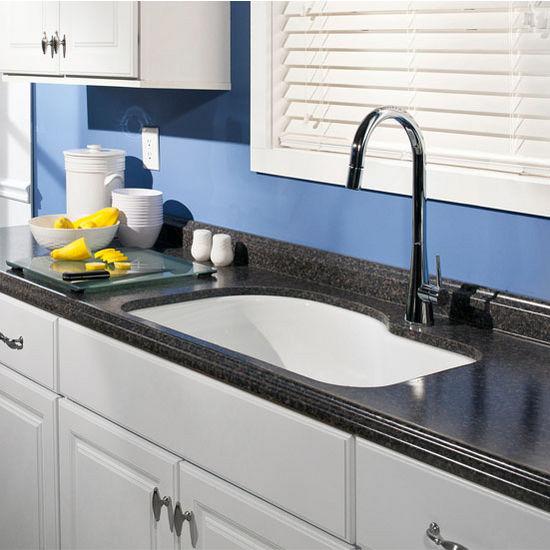 enamel steel designer offset undermount single bowl kitchen sink 31 1