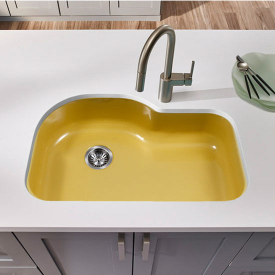 Houzer Kitchen Sinks Biscuit Color