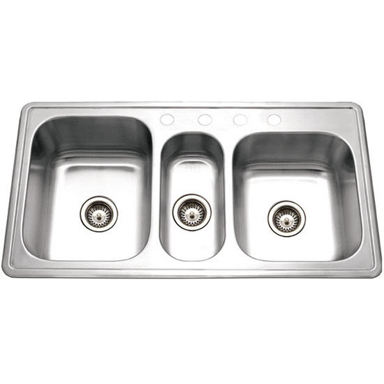 Premiere Gourmet Series Topmount Triple Bowl Kitchen Sink