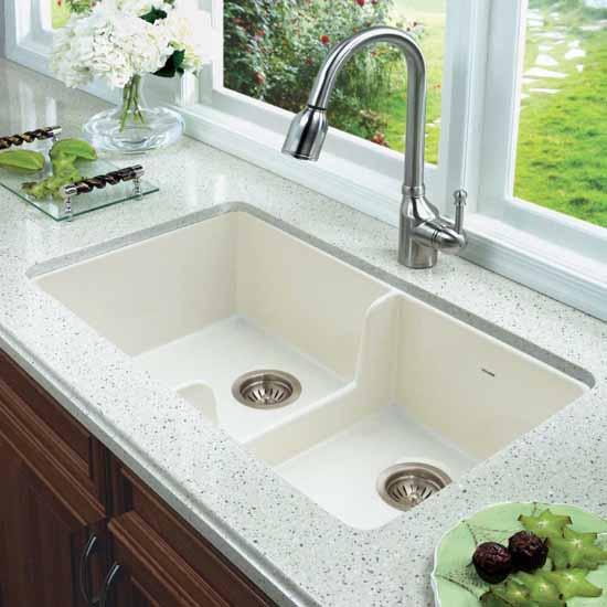 Best Undermount Fireclay Kitchen Sinks: Platus Series Front Apron Or Undermount Double Bowl