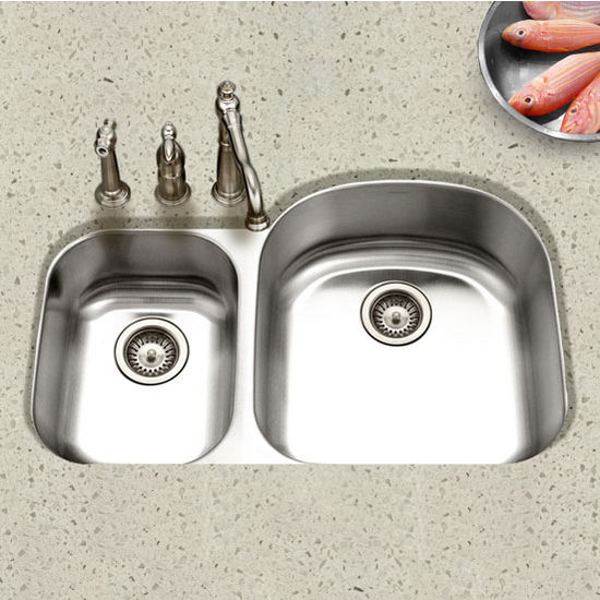 Houzer - Undermount 70/30 Double Bowl Sink