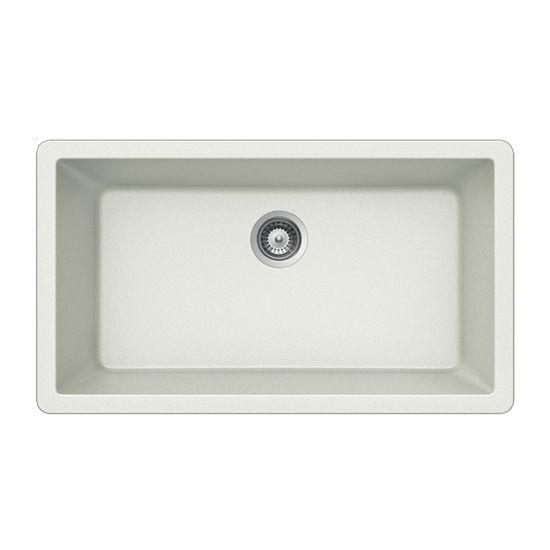 Houzer Quartztone Granite Undermount Large Single in Cloud Color, 33'' W x 18-7/16'' D, 9-1/2'' Bowl Depth