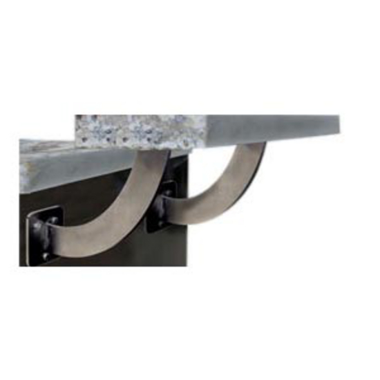 "Federal Brace San Marino Floating Countertop Support, 11""W x 11""H, Stainless Steel"