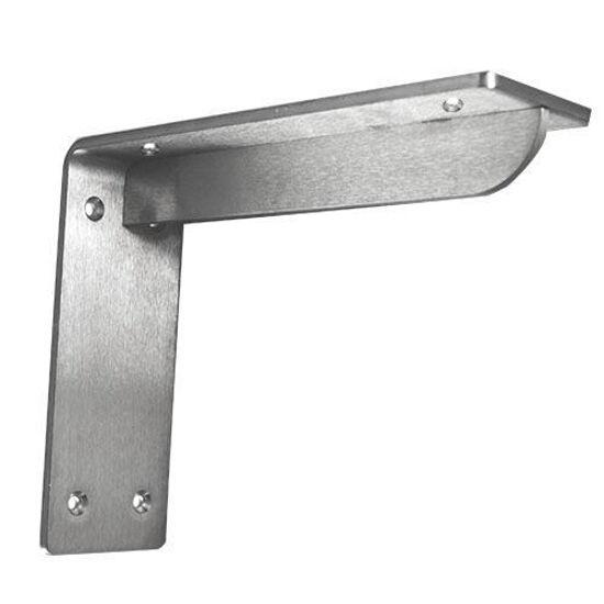 "Federal Brace Georgian Bench Bracket in Stainless Steel, 3"" W x 10"" D x 5"" H"