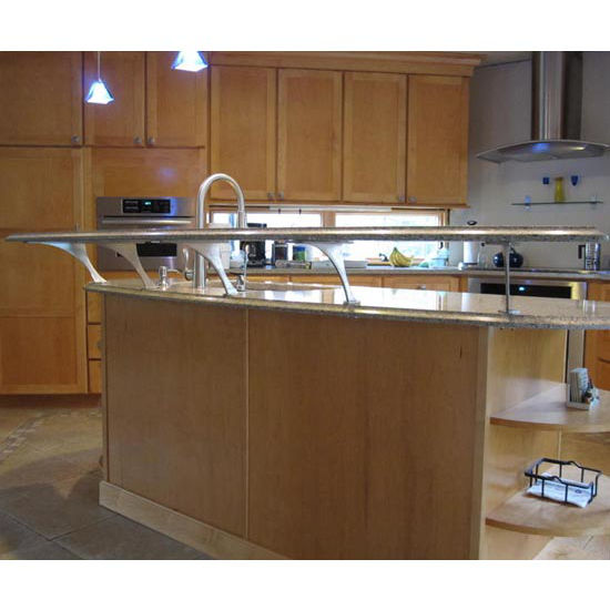 Federal Brace Foremont Counter Mounted Countertop Bracket, Stainless Steel