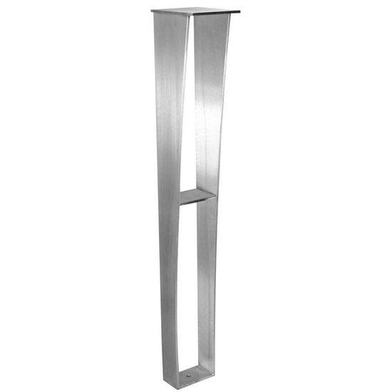 "Federal Brace Anteris Countertop Support Leg, 34.5""H, Black Painted Steel"
