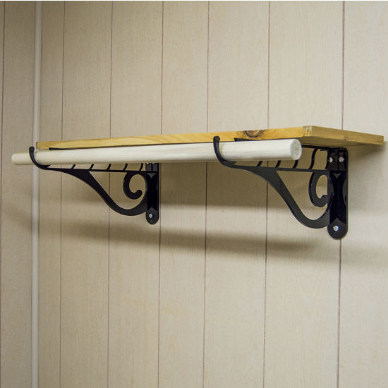 Accessory Closet Bracket With Multiple Hook Organizers By