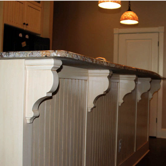 Wood Corbel Traditional Bar Bracket Kit In Unfinished