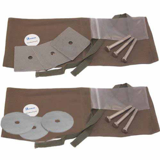 Federal Brace Post Mounting Bearing Plate Kits with Round or Sqaure Bearing Plates