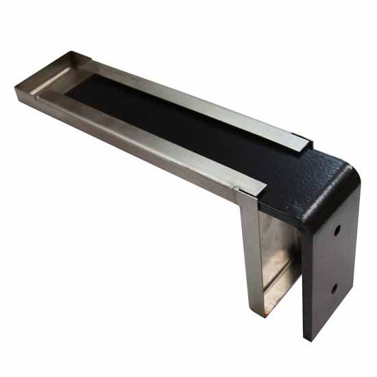 Federal Brace Providence Novelle Counter Support Bracket with Decorative Stainless Steel Cover