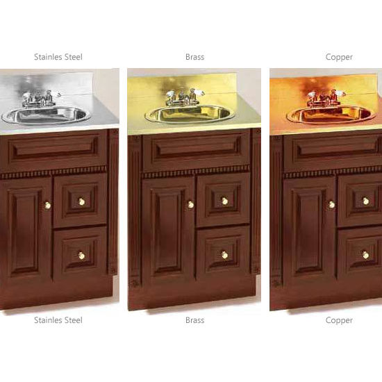 Precious Metal Bathroom Vanity Top By Stainless Craft   KitchenSource.com