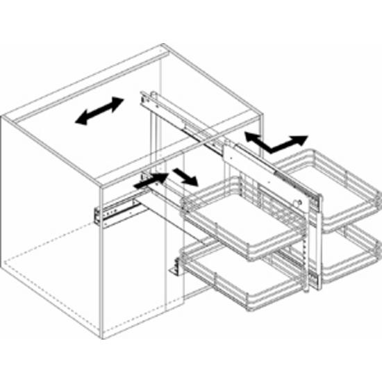 Kitchen Cabinet Accessories Pull Out: Slide Out Base Blind Kitchen Corner Cabinet Unit By Knape