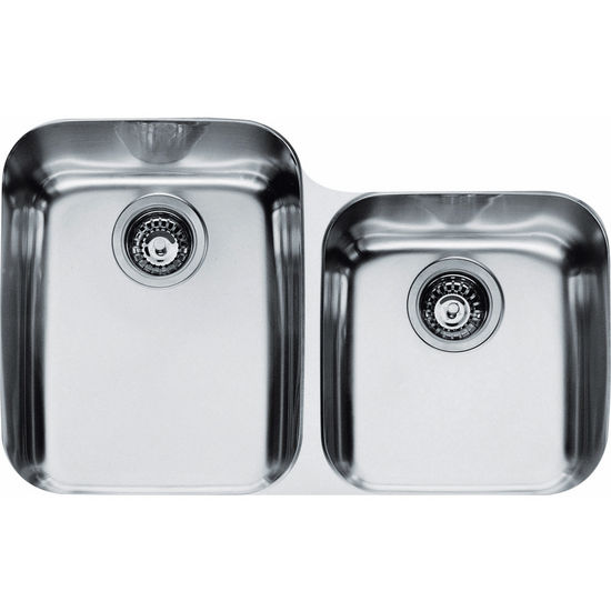 Franke Artisan Double Bowl Undermount Sink,18 Gauge, Stainless Steel ...