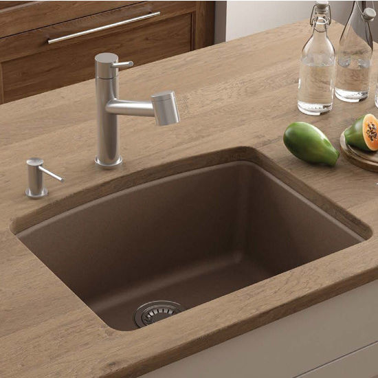 Ellipse Single Bowl Undermount Kitchen Sink Made Of Granite Measuring 25 W X 19 5 8 D By Franke Kitchensource