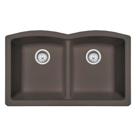 Kitchen Sink 19 X 33: Ellipse Double Bowl Undermount Kitchen Sink, Made Of