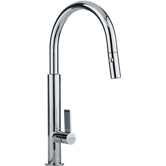 Franke Evos Pull Down Spray Kitchen Faucet, Polished Chrome