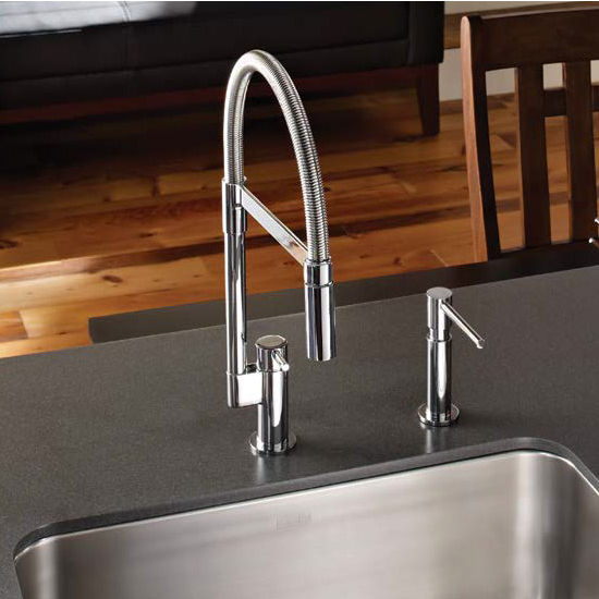 Franke Manhattan Flex Pull Down Dual Spray Kitchen Faucet, Polished Chrome
