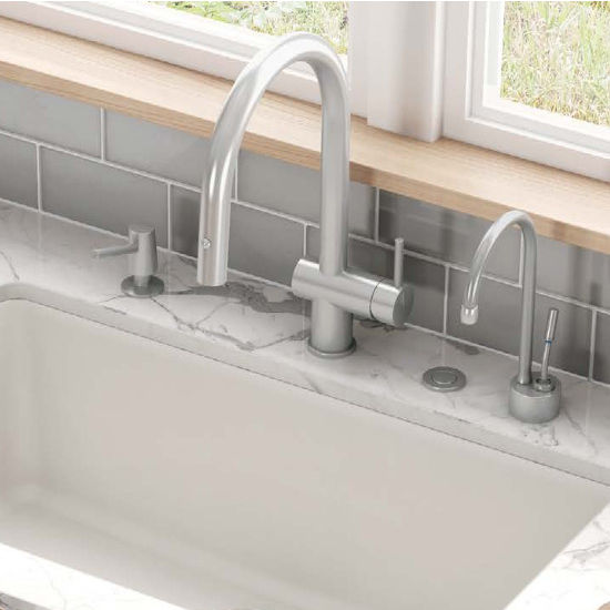 Franke Active Neo Pull Down Spray Kitchen Faucet, Satin Nickel