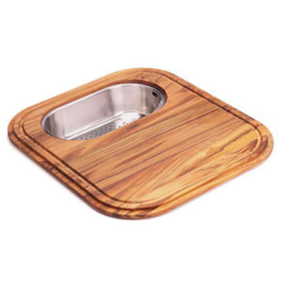 EuroPro Solid Wood Cutting Board with Polished Stainless Colander