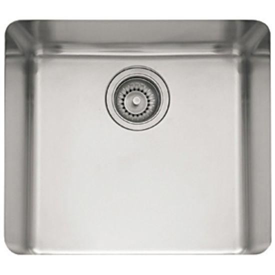 Franke Stainless Steel : Franke Kubus Stainless Steel Single Bowl Undermount Sink 19-1/4 W