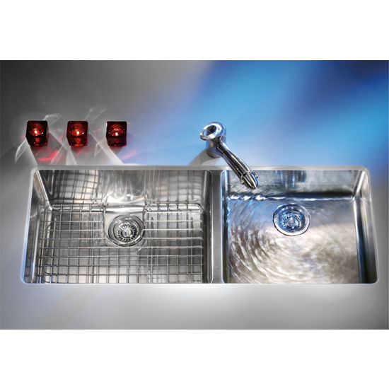 Kitchen Sinks - Kubus Stainless Steel Double Bowl Undermount Sink - 38 ...
