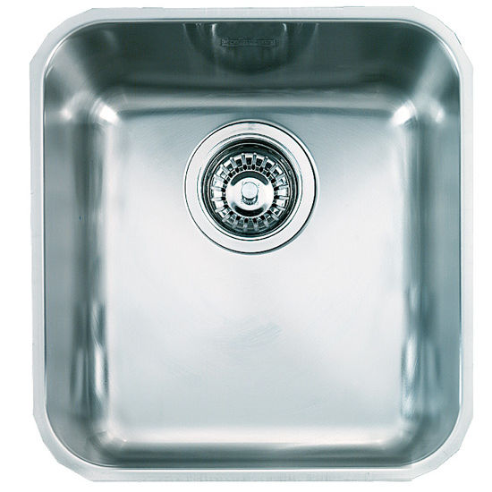 "Franke Largo Single Bowl Undermount Sink, 18 Gauge, Stainless Steel, 16-3/8"" W x 18-1/2"" D"