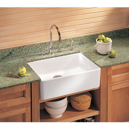 Franke Fireclay Apron Front Sink, shown in White