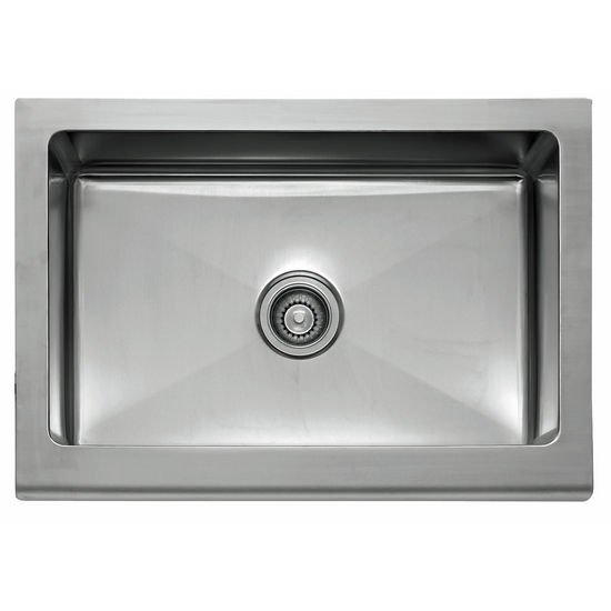 "Franke Manor House Stainless Steel 30"" Single Bowl Apron Front Sink, 30"" W x 20-7/8"" D"