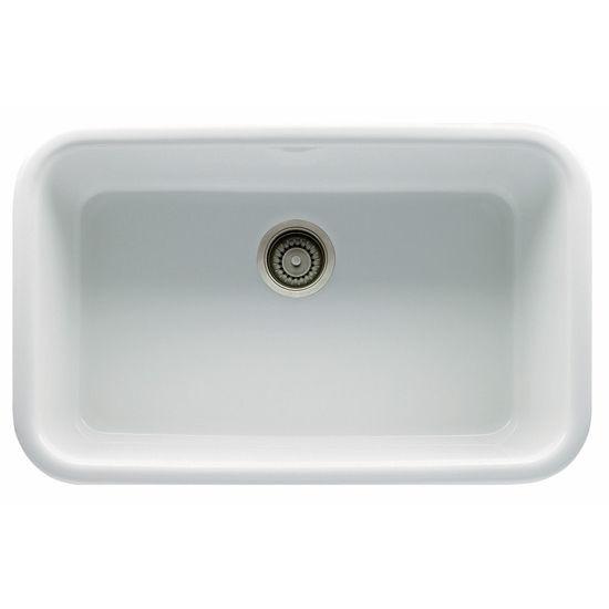 "Franke Oceania Single Bowl Undermount Fireclay, White, 31"" W x 18-5/16"" D"