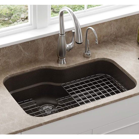 franke orca large single bowl undermount kitchen sink granite fragranite mocha - Kitchen Sinks Franke