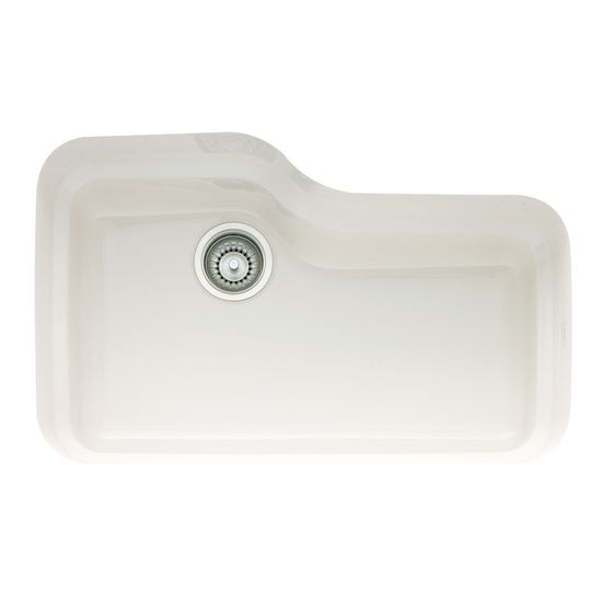 Orca Fireclay Undermount Sinks, Shown in White