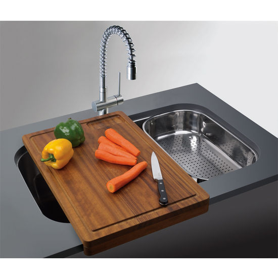 Franke Sink With Cutting Board : Sinks - Oceania Stainless Steel Single Bowl Undermount Sinks by Franke ...